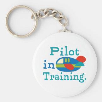 Piloto personalizado en el entrenamiento llavero