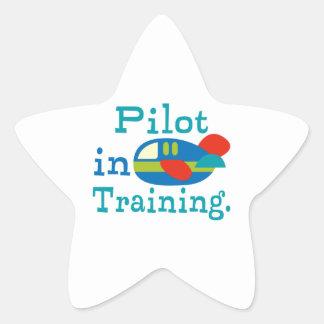 Piloto personalizado en el entrenamiento pegatina en forma de estrella