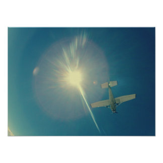 piloto plano perfecto de la foto pequeño póster