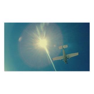 piloto plano perfecto de la foto pequeño tarjetas de visita