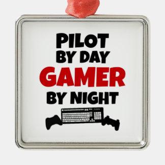Piloto por videojugador del día por noche ornamentos para reyes magos