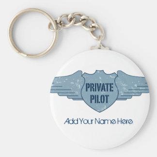 Piloto privado Blue Wings Llavero Personalizado