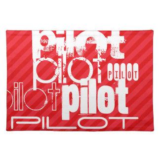 Piloto; Rayas del rojo del escarlata Manteles Individuales