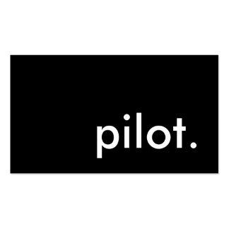 piloto plantilla de tarjeta de visita