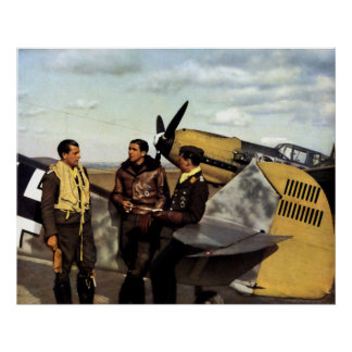 Pilotos alemanes ME-109 de WWII Poster