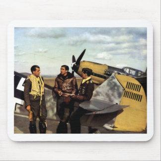 Pilotos alemanes ME-109 de WWII Mousepads