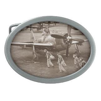 Pilotos de caza que entrenan en los rayos P-47 Hebilla Cinturón