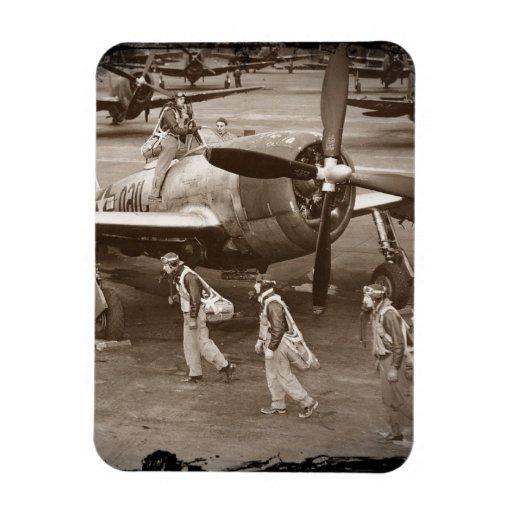 Pilotos de caza que entrenan en los rayos P-47 Imán De Vinilo