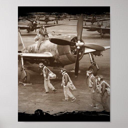 Pilotos de caza que entrenan en los rayos P-47 Impresiones