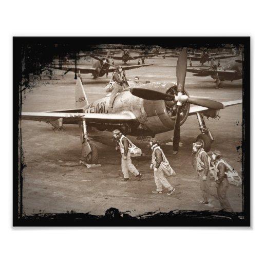 Pilotos de caza que entrenan en los rayos P-47 Fotografías