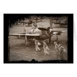 Pilotos de caza que entrenan en los rayos P-47 Tarjetas