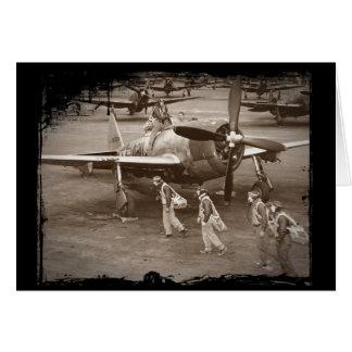 Pilotos de caza que entrenan en los rayos P-47 Tarjeta De Felicitación