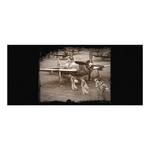 Pilotos de caza que entrenan en los rayos P-47 Tarjeta Publicitaria