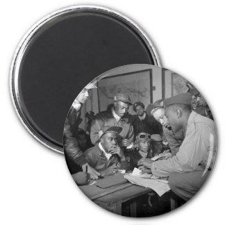Pilotos del grupo del combatiente de los aviadores imán redondo 5 cm