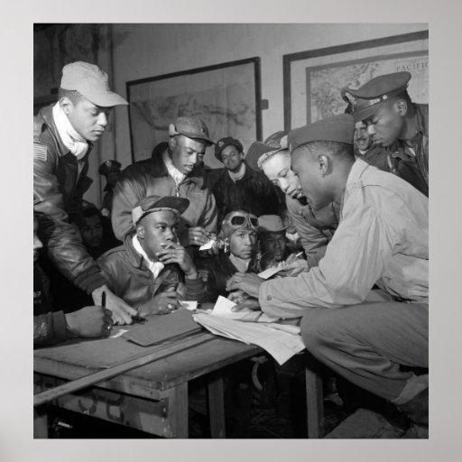 Pilotos del grupo del combatiente de los aviadores impresiones