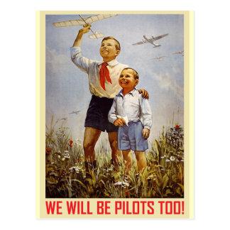 Pilotos jovenes postal