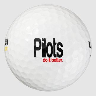 Pilots Do It Better Golf Balls