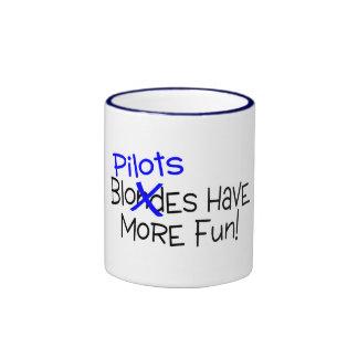 Pilots Have More Fun Ringer Coffee Mug