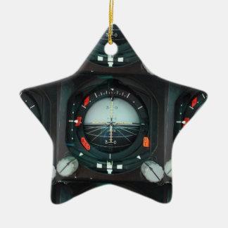 Pilot's instrument ceramic ornament