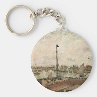 Pilot's Jetty, Le Havre by Camille Pissarro Keychain