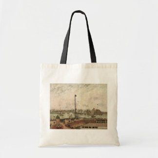 Pilot's Jetty, Le Havre by Camille Pissarro Tote Bag