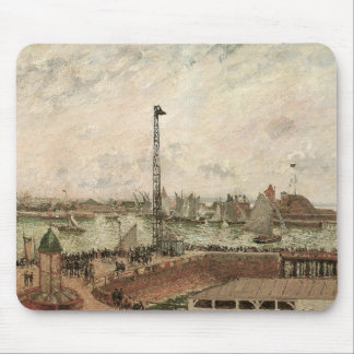 Pilot's Jetty, Le Havre, Morning by Pissarro Mouse Pad