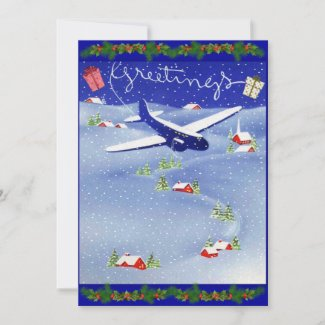 Pilot's Photo Christmas Holiday Card Set