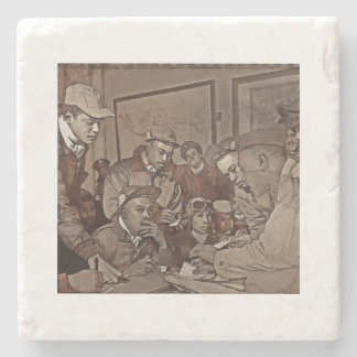 Pilots Receiving Their Orders Stone Coaster