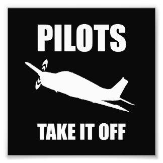 Pilots Take Off Photo Print