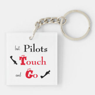 Pilots Touch and Go Square Key Chain