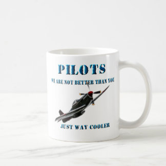 Way Cooler Cessna Airplane Pilot 11 Oz Coffee Mug Cup Made Of High Fired Black Ceramic With Large Easy Grip