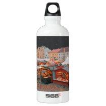 Pilsen - Christmas Market Lights Aluminum Water Bottle