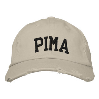 Pima Embroidered Hat Embroidered Baseball Cap
