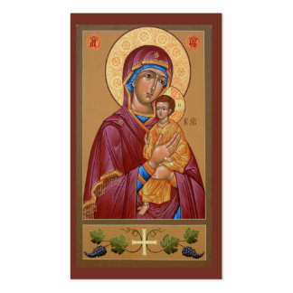 Pimen Mother of God Mini-Prayer Card Double-Sided Standard Business Cards (Pack Of 100)