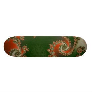 Pimento Olive Double Spiral Skateboard