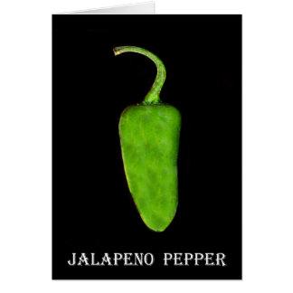Pimienta 1 .jpg del Jalapeno de Tejas Tarjeta De Felicitación