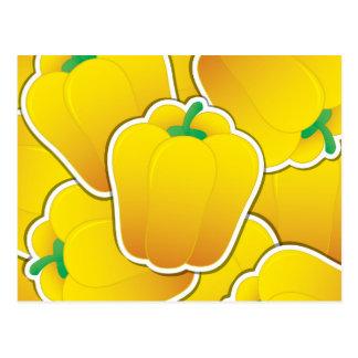 Pimienta amarilla enrrollada postales