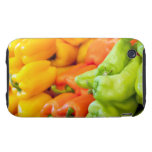 Pimienta amarilla, roja y verde en venta en el tough iPhone 3 protectores