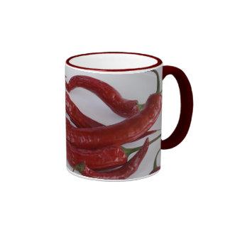 pimienta candente tazas de café