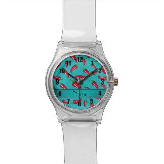Pimienta de chile conocida personalizada de la relojes de pulsera