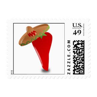 Pimienta de chile de Cinco De Mayo Sello Postal