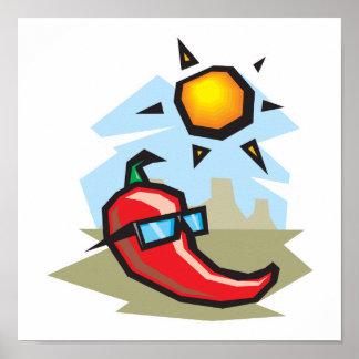 pimienta de chile del chillin póster