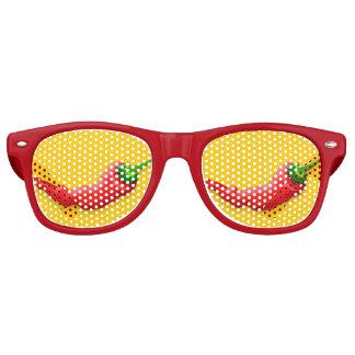 Pimienta de chile lentes de fiesta