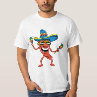 Pimienta de chile mexicana camisas