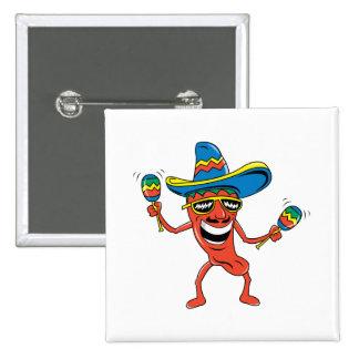 Pimienta de chile mexicana pin cuadrado