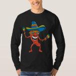 Pimienta de chile mexicana poleras