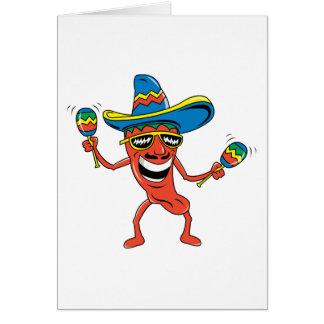 Pimienta de chile mexicana tarjeta de felicitación