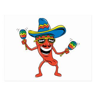 Pimienta de chile mexicana tarjetas postales