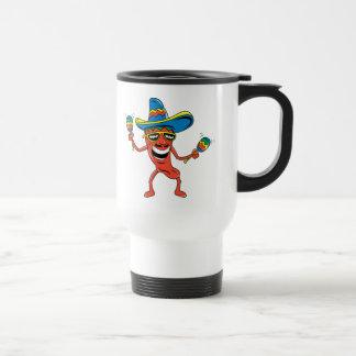 Pimienta de chile mexicana tazas de café