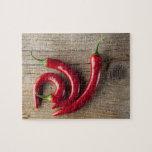 Pimienta de chile rojo puzzle con fotos